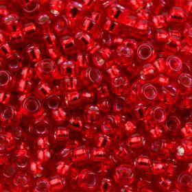 Miyuki Size 15 Round Seed Beads Silver Lined Red 8.2g Tube