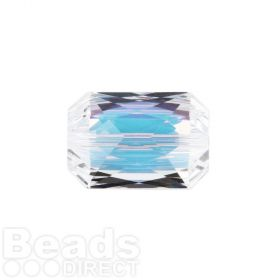 5515 Swarovski Crystal Emerald Cut 12.5x18mm Crystal AB Pk1