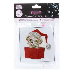 Craft Buddy Crystal Motif Kit 'Puppy Present' with Tool