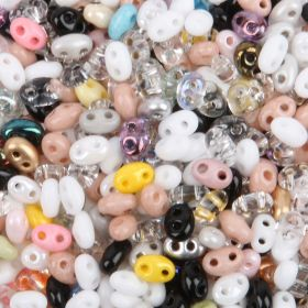 Multi Colour Preciosa Twin Hole Seed Bead Mix 2.5x5mm 50g