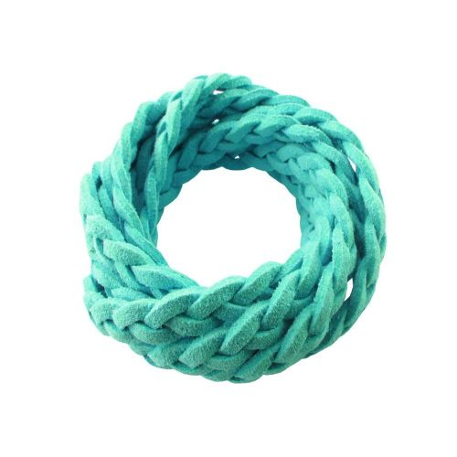 soTwisted ™ / suede strap / braided / 6x2mm / light turquoise / 1m