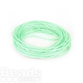 Shiny Coated Braiding Cord 1mm Mint Green 10m