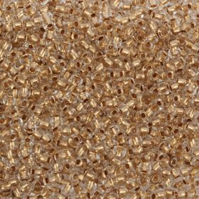Preciosa Size 8 Round Seeds Bronze Lined Clear 50g