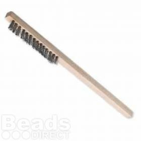 Fine Steel Wire Brush with Wooden Handle