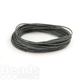 Waxed Cotton Cord 1mm Grey 5metres