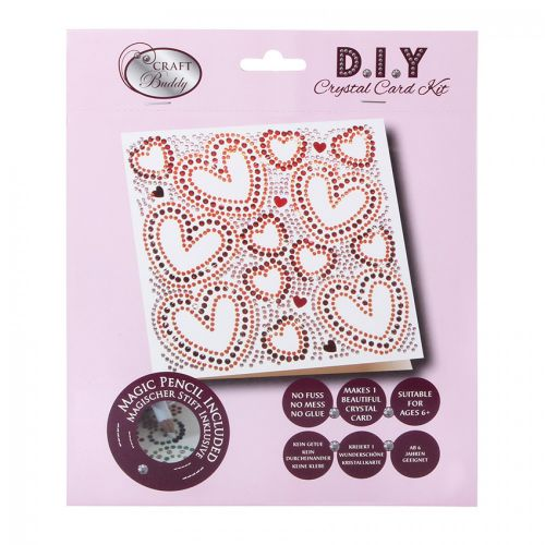 Beads Direct Heart to Heart Crystal Card Kit