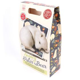The Crafty Kit Company Polar Bear Needle Felting Kit
