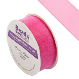 Hot Pink Organza Ribbon 19mm Sold on a 5 Metre Reel