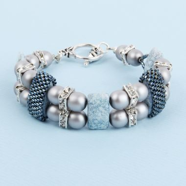 Speckled Blue Luster Bracelet