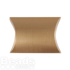 Matte Gold Medium Pillow Gift Box 85x85x30mm Pk1