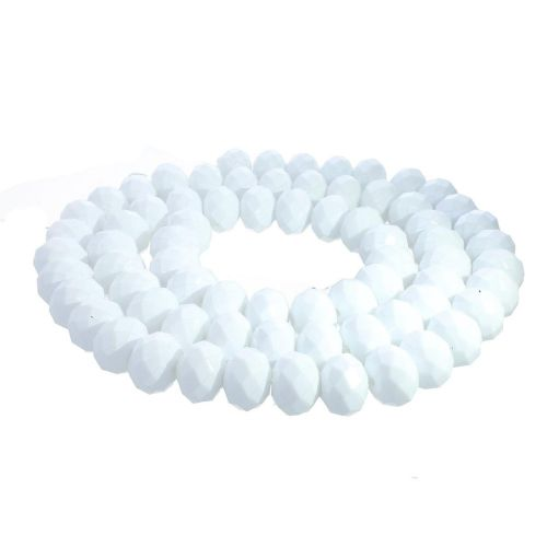 Milly™ / rondelle / 8x10mm / white / 70pcs