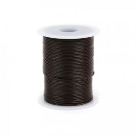 Brown Round Leather 1mm 50 Metre Reel