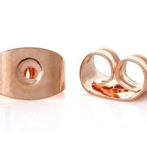 Rose Gold Plated Earring Back/Base 4x6x3mm 1xPair