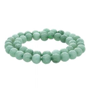 Agate / faceted round / 8mm / pastel green / 45pcs