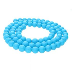 Milly™ / satin round / 8mm / azure / 105pcs