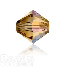 5328 Swarovski Crystal Bicones 6mm Light Colorado Topaz AB Pk360
