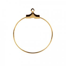 Gold Plated Bead Hoop Bases 25mm Pk10