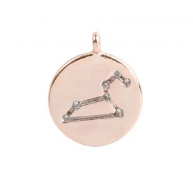 Rose Gold Plated Leo Constellation Zodiac Charm 11mm Pk1