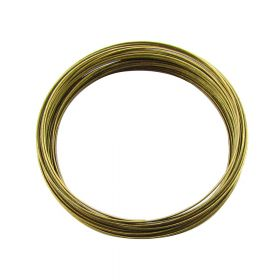 Memory wire / surgical steel / diameter 60mm / antique bronze / wire 0.6mm / 40 loops