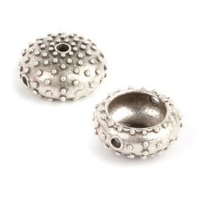 Antique Silver Large Sea Urchin Bead 7x17mm Pk1