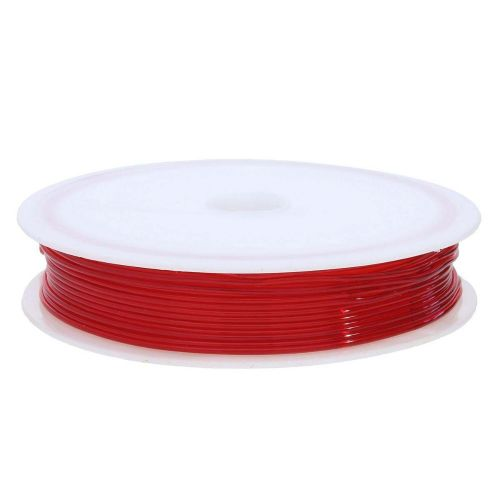 Silicone rubber / spool / 0.8mm / red / 8m