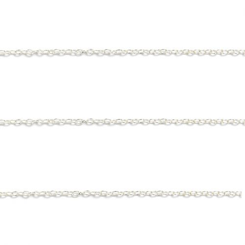 Silver Plated Fine Cable Chain 2mm 1metre