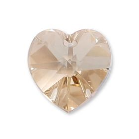 6228 Swarovski Crystal Hearts 10mm Golden Shadow Pk2