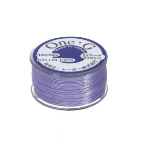 TOHO One-G ™ / nylon thread for beads / Light Lavender / thickness 0.35mm / 46m