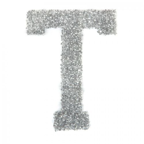 Swarovski Crystal Letter 'T' Self-Adhesive Fabric-It Transparent CAL Pk1