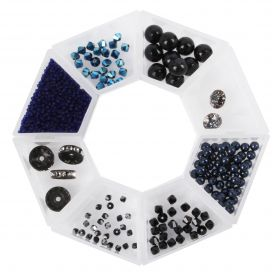 Beads Direct 'Midnight' Bead and Crystal Selection with Storage Ring