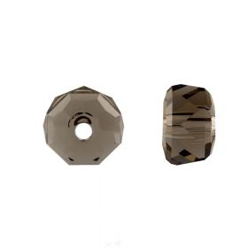 5045 Swarovski Crystal Rondelle 8mm Smokey Quartz Pk6