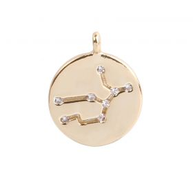 Gold Plated Virgo Constellation Zodiac Charm 11mm Pk1