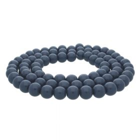 Milly™ / satin round / 8mm / bright graphite / 100pcs