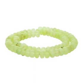 Agate / faceted rondelle / 5x8mm / lime green / 72pcs