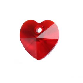 6228 Swarovski Crystal Hearts 10mm Light Siam Pk2