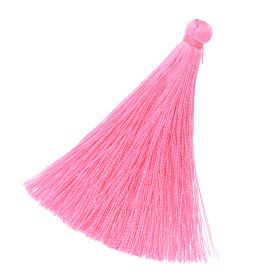 Tassel / viscose thread / 70mm / width 10mm / pink / 1pcs