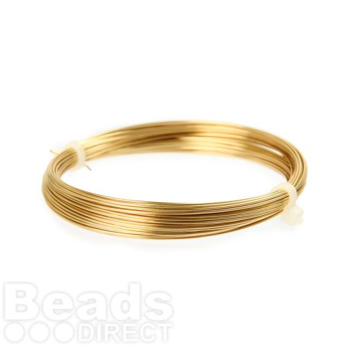 Gold Brass Craft Wire 0.60mm 10metre Coil