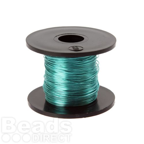 Supa Green Coloured Copper Craft Wire 0.315mm 70metre Reel