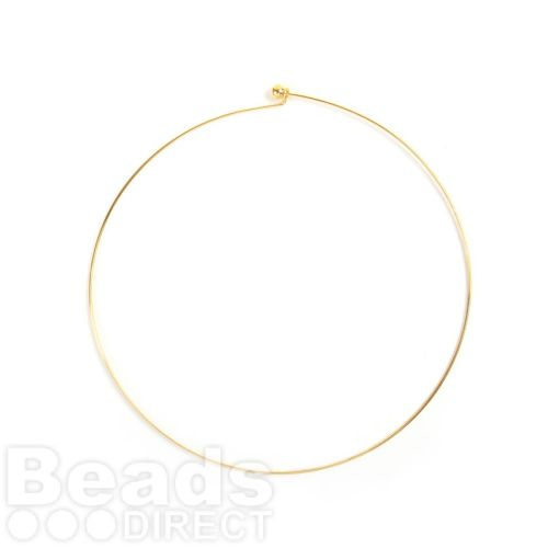 Gold Plated Choker with Screwable End Ball Pk1