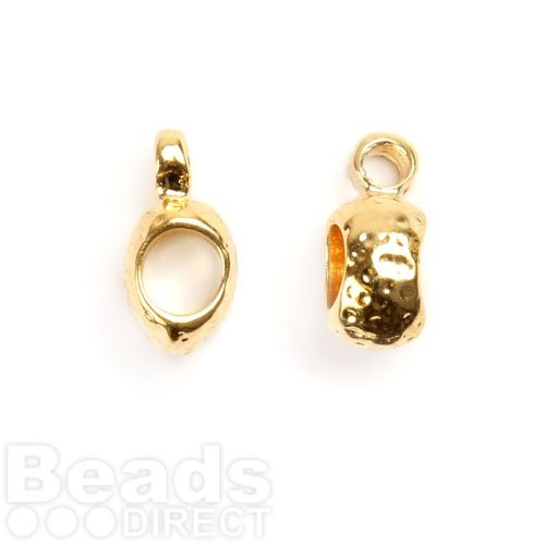 Gold Plated Charm Carrier 4mm Pk1
