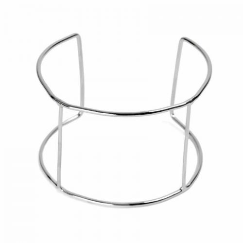 rhodium plated bangle base 60x40mm