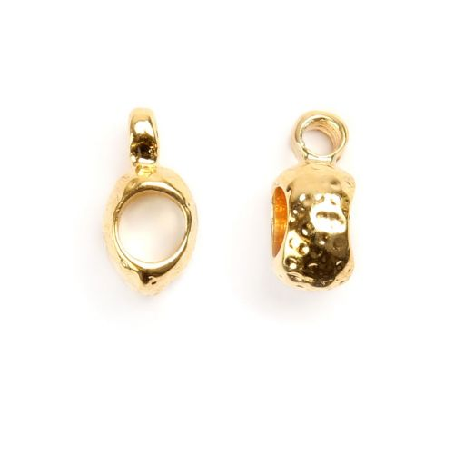 X-Gold Plated Charm Carrier 4mm Pk1