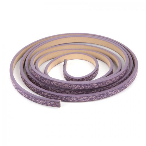 Purple Snake Effect PU Flat Cord 5mm 1.2metre