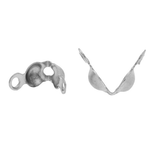 Calottes / surgical steel / 3mm / silver / hole 1mm / 20pcs