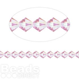 5328 Swarovski Crystal Bicones Xillion 4mm Light Amethyst AB Pk24
