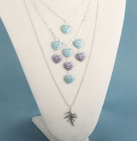 Frosted Heart Necklace