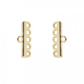 Light Gold Plated 5 Strand Ends 8x18mm 1xPair