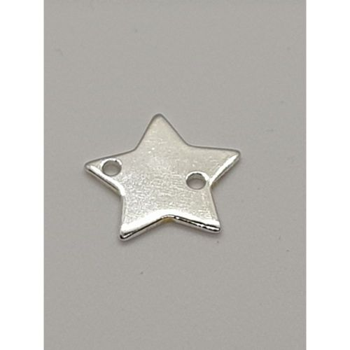 Sterling Silver star connector charm 10mm / hole 0.5mm / 1pcs