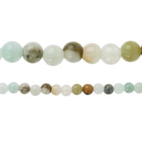 "Multi Colour Amazonite Semi Precious Round Beads 6mm 15"" Strand"