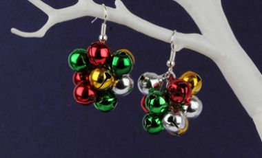 Jingle Bell Cluster Earrings Mini Make Monday